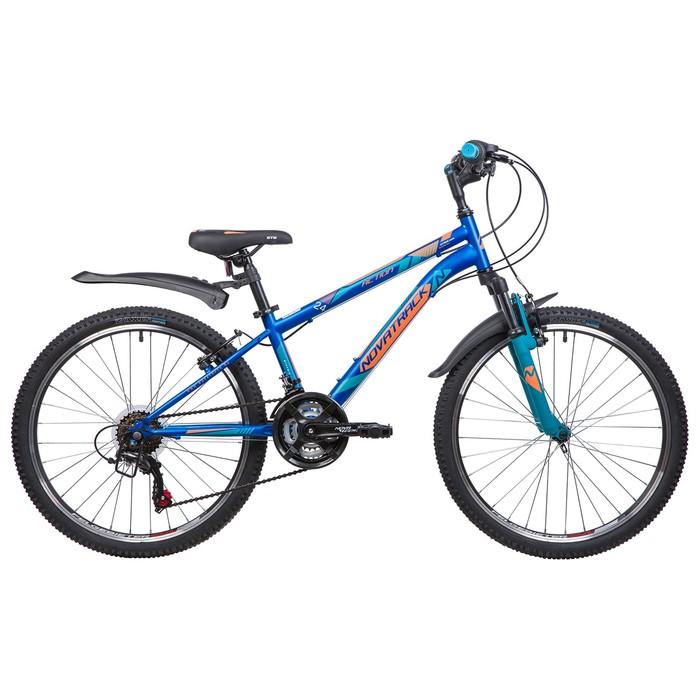 """Велосипед 24"""" Novatrack Action, 18ск, 2019, цвет синий, размер 10"""""""