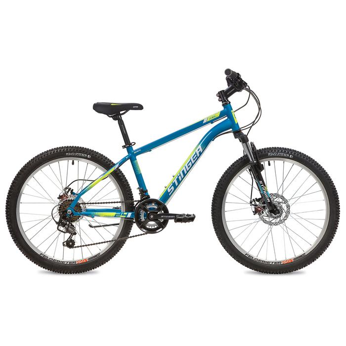 """Велосипед 24"""" Stinger Caiman D, 2020, цвет синий, размер 12"""""""