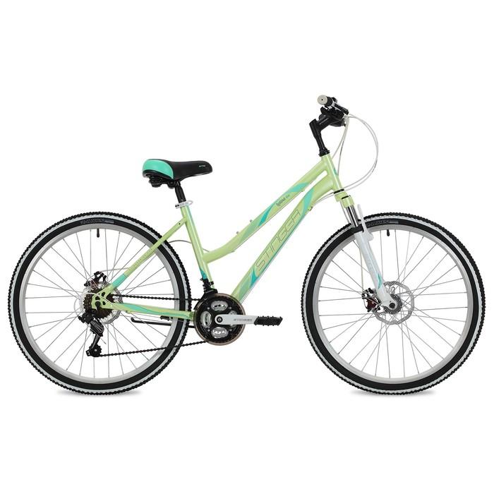 """Велосипед 26"""" Stinger Latina D, 2018, цвет зелёный, размер 17"""""""