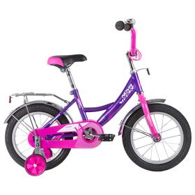 """Велосипед 14"""" Novatrack Vector, 2020, цвет лиловый"""
