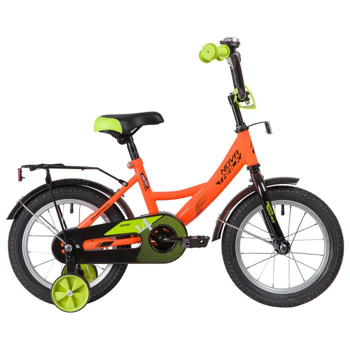 """Велосипед 14"""" Novatrack Vector, 2020, цвет оранжевый"""