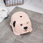 """Подставка детская """"Собачка"""", цвет розовый - фото 971874"""