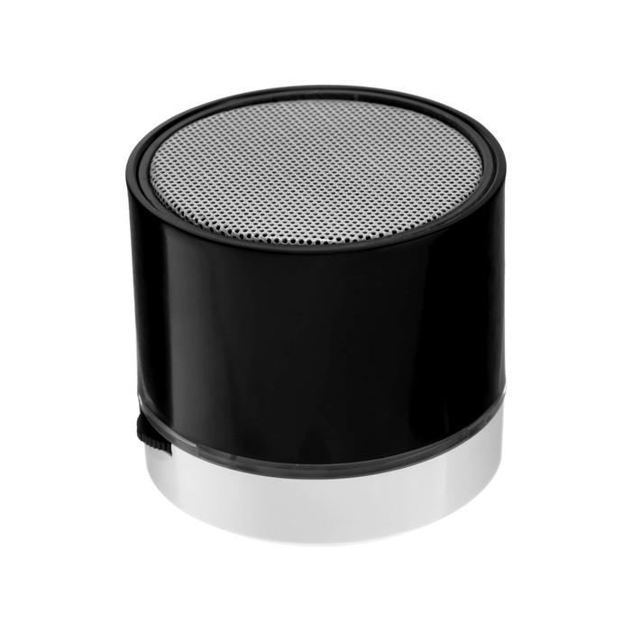 Портативная колонка LuazON Hi-Tech18, 3 Вт, 520 мАч, microSD, USB, черная