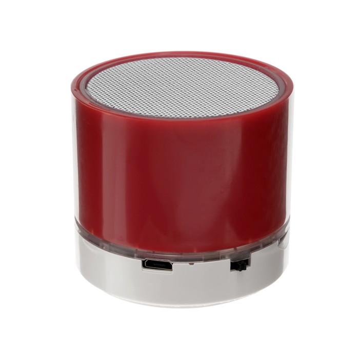 Портативная колонка LuazON, microSD, 520 мАч, 3 Вт, красная