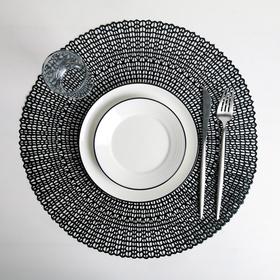 Салфетка кухонная «Роса», 45×45 см, цвет чёрный