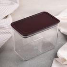 The food storage container 14,3х8,3x10 cm, colour-transparent brown