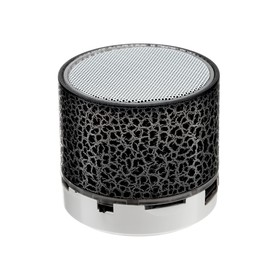 Портативная колонка LuazON LAB-30, 3 Вт, 520 мАч, microSD, цвет: черный мрамор