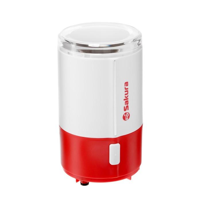 Кофемолка Sakura SA-6160WR 150 Вт, 50 гр, красный - фото 304826834