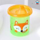 "Cup kids ""Fox Sonia"" with rigid spout 200 ml, color green/orange"