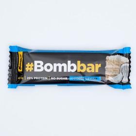 Протеиновый батончик Bombbar в шоколаде, кокосовый торт, 40 г