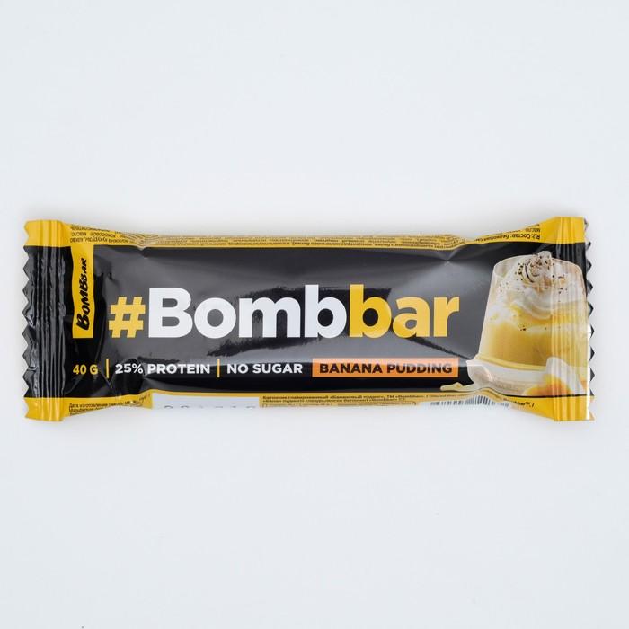 Протеиновый батончик Bombbar в шоколаде, банановый пудинг, 40 г