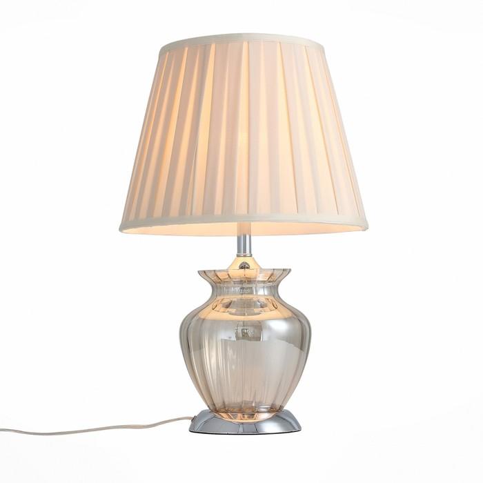 Настольная лампа ASSENZA, 60Вт E27, цвет хром - фото 7931410