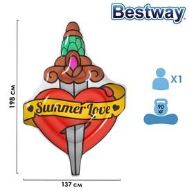 Матрас для плавания Summer Love Tattoo, 198 x 137 см, 43265 Bestway