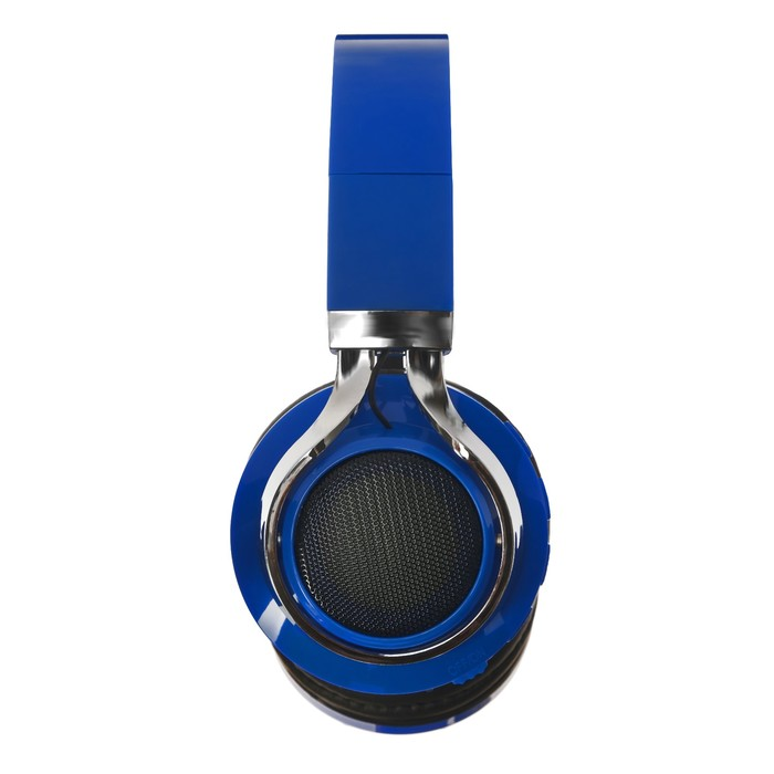 Наушники LuazON, Bluetooth 4.2, 250 мАч, LED, FM, microSD, синие - фото 274711335