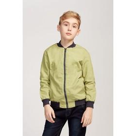 Бомбер для мальчика, цвет хаки, рост 122 см (32)