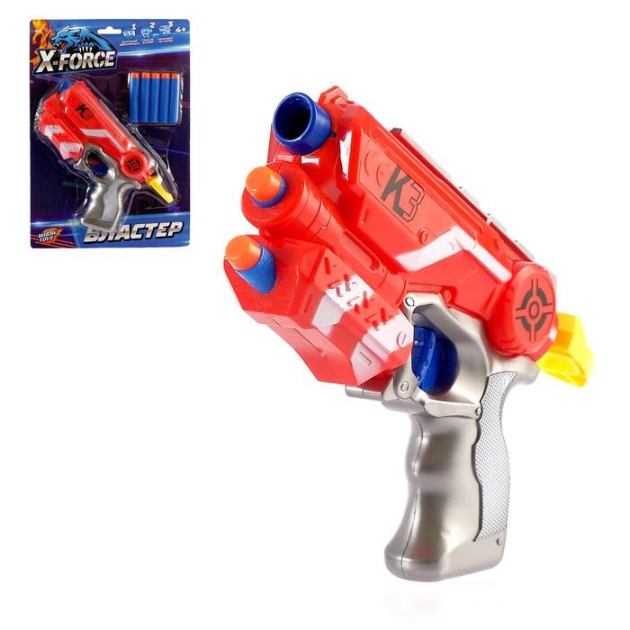 Бластер К-3, стреляет мягкими пулями, №SL-03219, цвета МИКС