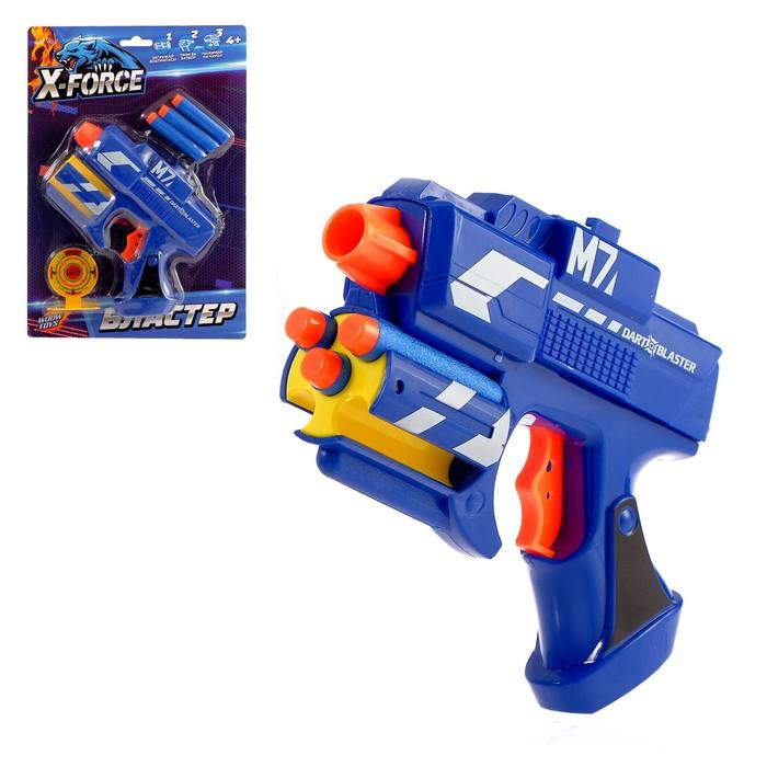 Бластер М7, стреляет мягкими пулями, №SL-03219, цвета МИКС