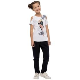 Джемпер для девочек, рост 158 см, цвет белый