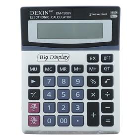 Калькулятор настольный, 12-разрядный, DM-1200V, двойное питание