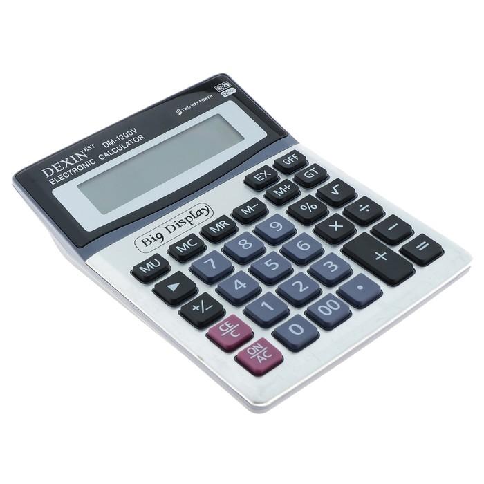 Калькулятор настольный, 12-разрядный, DM-1200V, двойное питание - фото 511158719