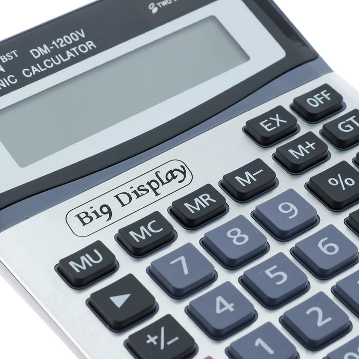 Калькулятор настольный, 12-разрядный, DM-1200V, двойное питание - фото 511158720