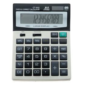 Калькулятор настольный, 12-разрядный, CT-912, двойное питание, большой
