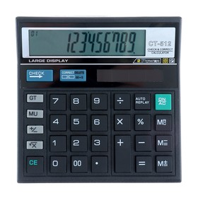 Калькулятор настольный 12-разрядный CT-512 двойное питание Ош