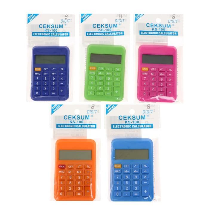 Калькулятор карманный 08-разрядный 110 корпус МИКС