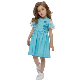 Платье для девочек, рост 122 см, цвет бирюзовый