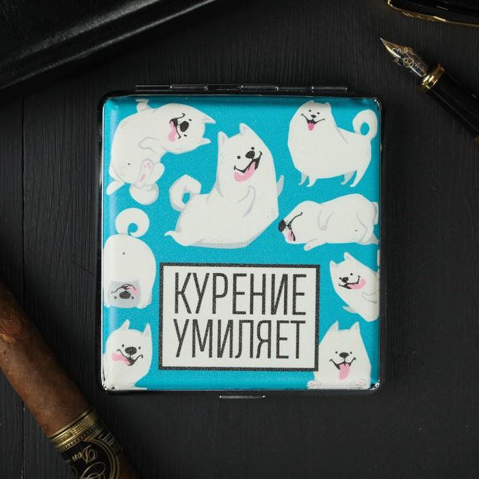 Портсигар «Курение умиляет», 9.6 х 9,6 см