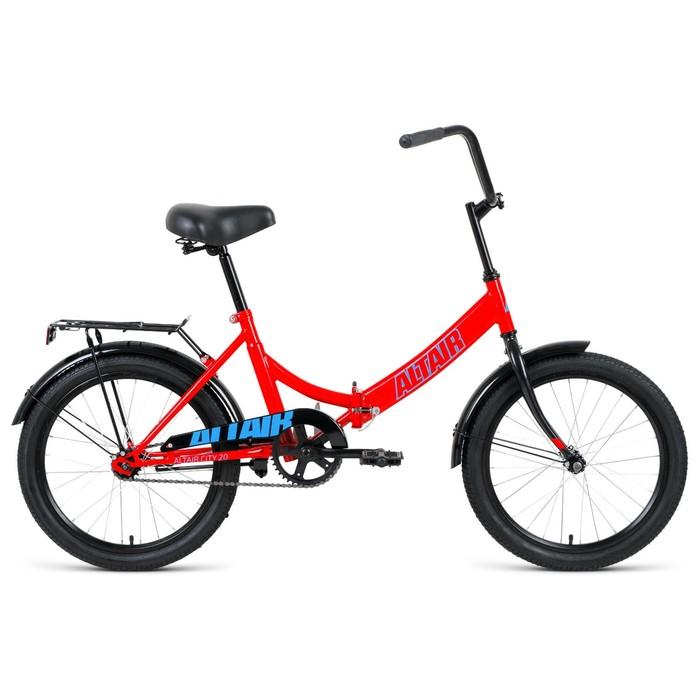 """Велосипед 20"""" Altair City, 2020, цвет красный/голубой, размер 14"""""""