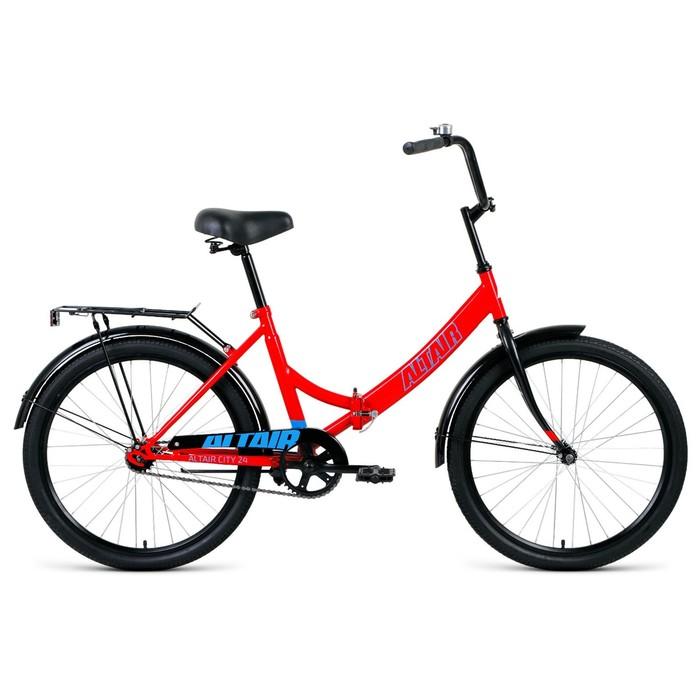 """Велосипед 24"""" Altair City, 2020, цвет красный/голубой, размер 16"""""""