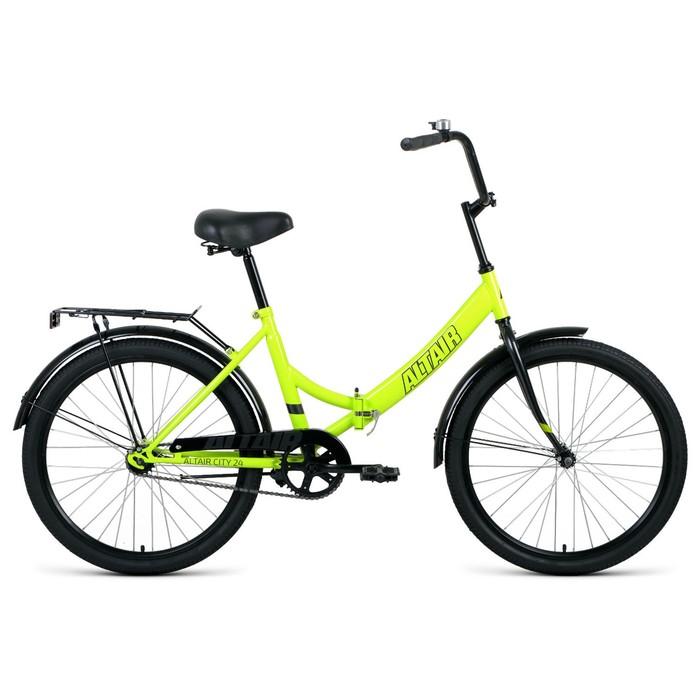 """Велосипед 24"""" Altair City, 2020, цвет светло-зелёный/серый, размер 16"""""""