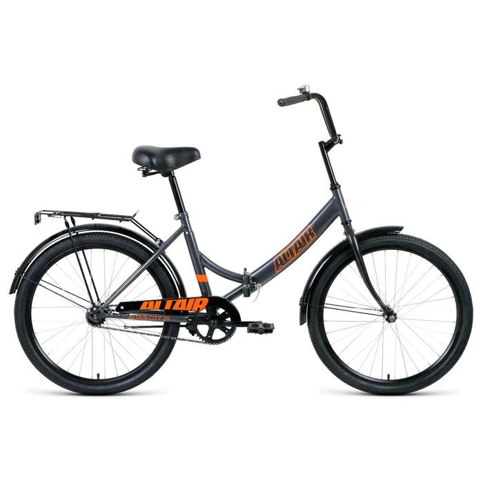 "Велосипед 24"" Altair City, 2020, цвет серый/оранжевый, размер 16"""