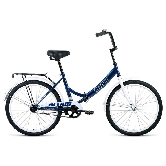 """Велосипед 24"""" Altair City, 2020, цвет тёмно-синий/серый, размер 16"""""""