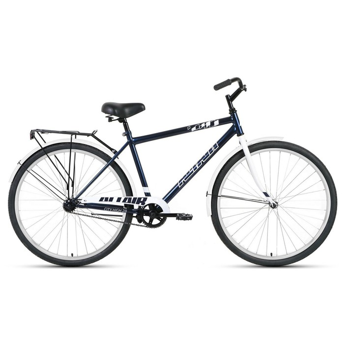 "Велосипед 28"" Altair City high, 2020, цвет тёмно-синий/серый, размер 19"""