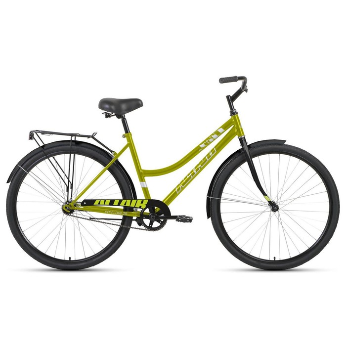 "Велосипед 28"" Altair City low, 2020, цвет зелёный/серый, размер 19"""