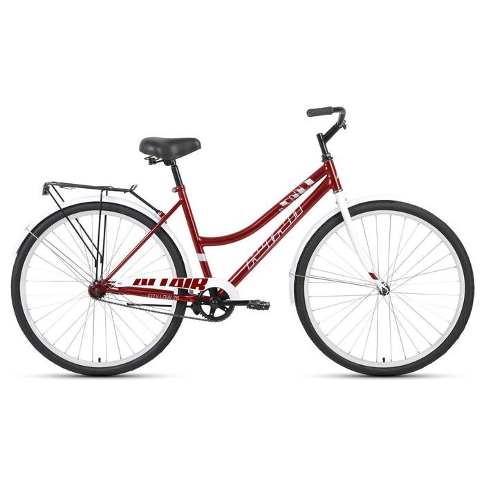 """Велосипед 28"""" Altair City low, 2020. цвет тёмно-красный/серый, размер 19"""""""