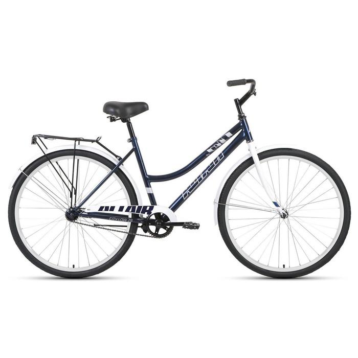 "Велосипед 28"" Altair City low, 2020, цвет тёмно-синий/серый, размер 19"""