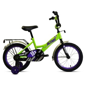 """Велосипед 16"""" Altair Kids, 2020, цвет ярко-зелёный/фиолетовый"""