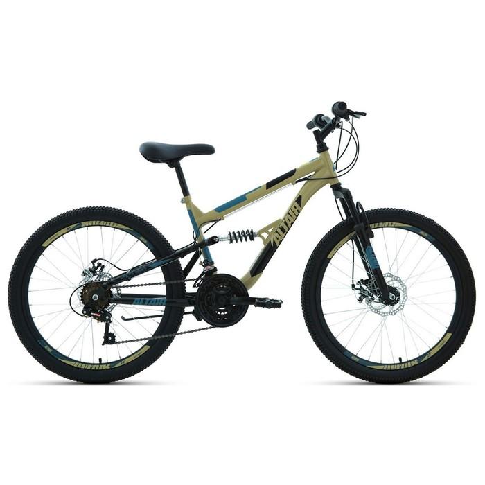 "Велосипед 24"" Altair MTB FS disc, 2020, цвет бежевый/чёрный, размер 15"""
