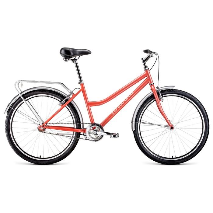 """Велосипед 26"""" Forward Barcelona 1.0, 2020, цвет коралловый, размер 17"""""""