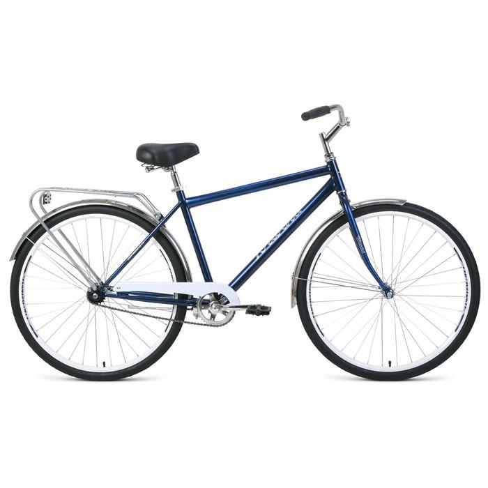 """Велосипед 28"""" Forward Dortmund 1.0, 2020, цвет тёмно-синий/белый, размер 19"""""""