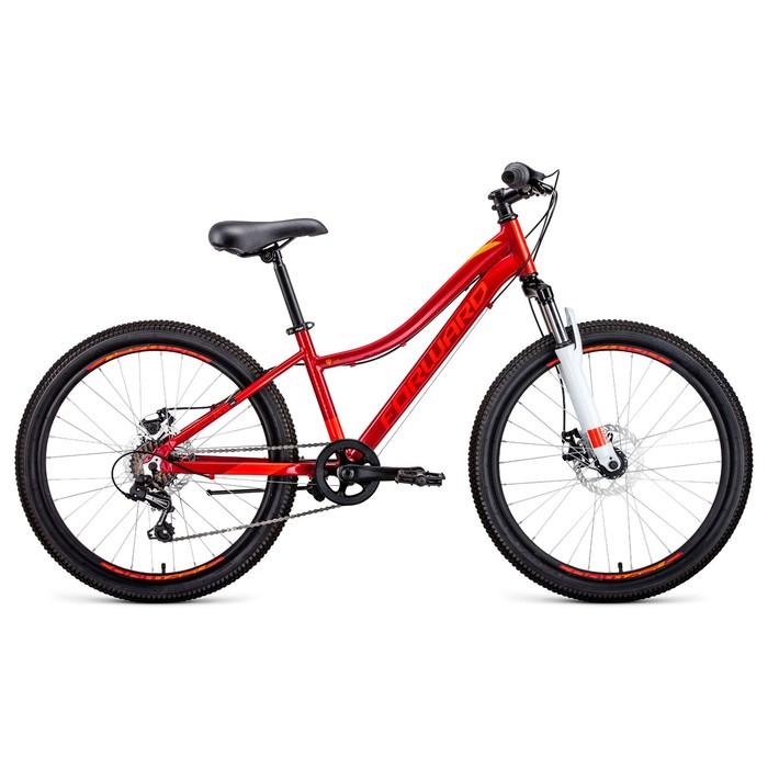 """Велосипед 24"""" Forward Jade 2.0 disc, 2020, цвет красный, размер 13"""""""