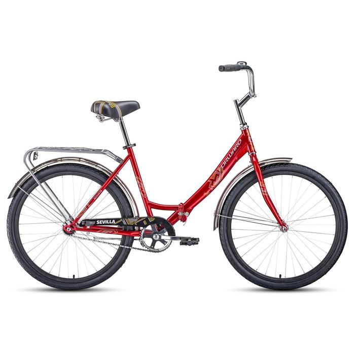 """Велосипед 26"""" Forward Sevilla 1.0, 2020, цвет красный/белый, размер 18.5"""""""