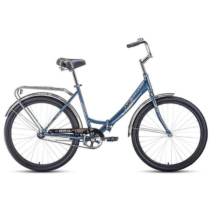 "Велосипед 26"" Forward Sevilla 1.0, 2020, цвет серый/серебро, размер 18.5"""