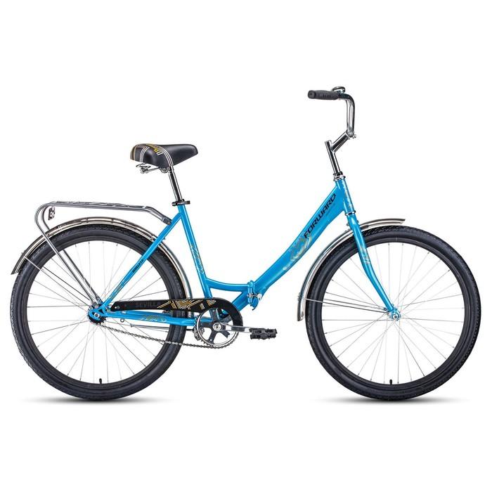 """Велосипед 26"""" Forward Sevilla 1.0, 2020, цвет синий/серый, размер 18.5"""""""