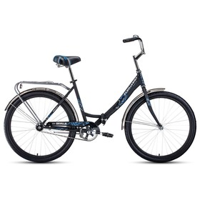 """Велосипед 26"""" Forward Sevilla 1.0, 2020, цвет чёрный/белый матовый, размер 18.5"""""""