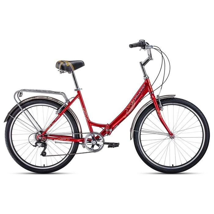 """Велосипед 26"""" Forward Sevilla 2.0, 2020, цвет красный/белый, размер 18.5"""""""