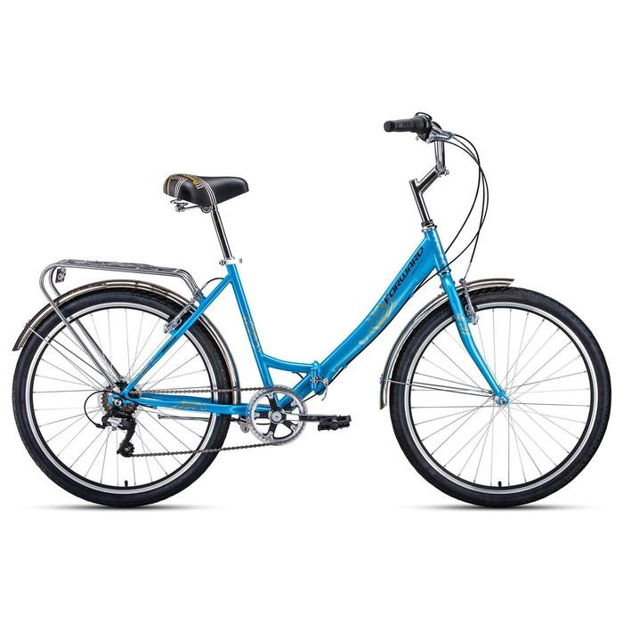 """Велосипед 26"""" Forward Sevilla 2.0, 2020, цвет синий/серый, размер 18.5"""""""